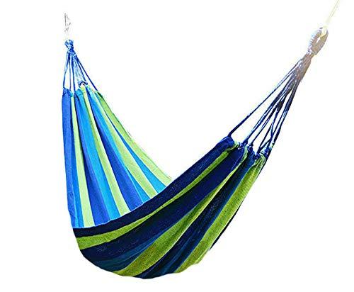 TEKSHOPPING Hamaca Tamaño 260x80 cm Colgante de jardín, Camping, Senderismo y Actividades al Aire Libre con Peso Total 150kg máx
