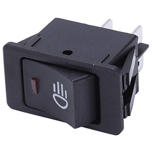 Senmubery 12V 35A Interruptor basculante LED luz antiniebla Barco Coche vehiculo Encendido-Apagado Tablero salpicadero Rojo