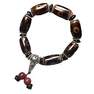 ZHIBO Buddha-Kopf-Armband aus natürlichem Achat, drei Augen, Dzi-Perlen
