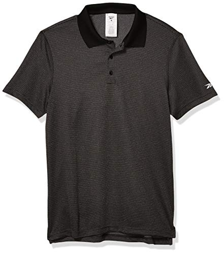 Reebok Mens Workout Ready Striped Polo