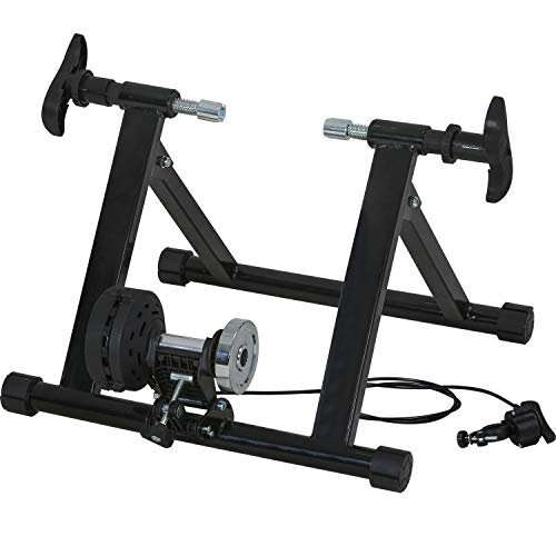 Bike Trainer Stand Bicycle Trainers Road Bike Trainer for Indoor Riding Magnetic Bike Trainer with 5 Levels Resistance