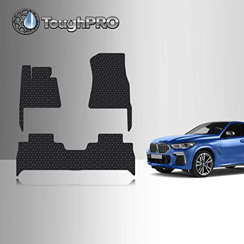 TOUGHPRO Floor Mat Accessories Set Compatible with BMW X6 - All Weather - Heavy Duty - Custom Fit - (Made in USA) - Black Rubber - 2020, 2021