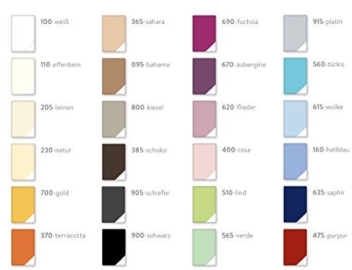 Estella Frottee Samt-Velours Spannbetttuch, Spannbettlaken in allen Größen und vielen Farben GRATIS 1x SCHAL GRATIS (90x200 cm bis 100x200 cm, elfenbein (110))