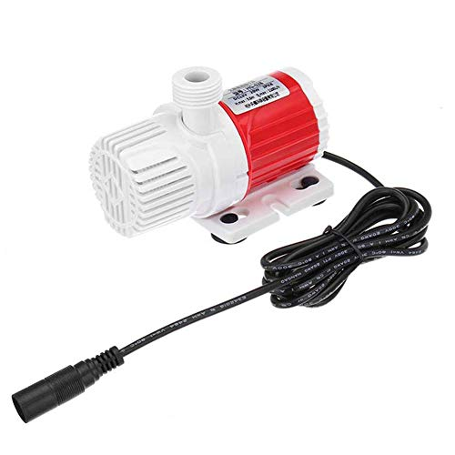 YakeHome Submersible Water Pump Dc12V 20W Portable 1100L/H Red, Red