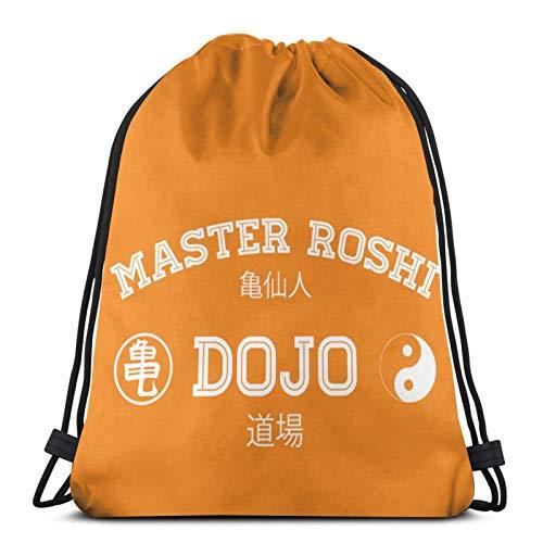 XCNGG Bolsa de Gimnasia Bolsa con cordón Bolsa de Viaje Bolsa de Deporte Mochila Escolar MochilaDrawstring Bag Master Roshi Dojo Tank Top Training Gymsack