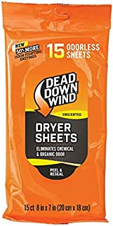 Dead Down Wind Dryer Sheets (15 Count, Unscented)