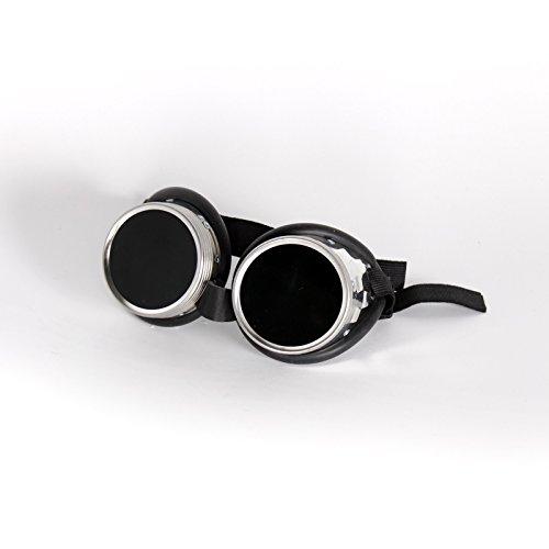 Schraubringbrille mit Schlauchgummipolster 50mm Glasdurchmesser, Gläser klar oder grün getönt DIN 4-6, Minion-Brille - Schutzbrille, Schweißschutzbrille, Ausführung:DIN 6