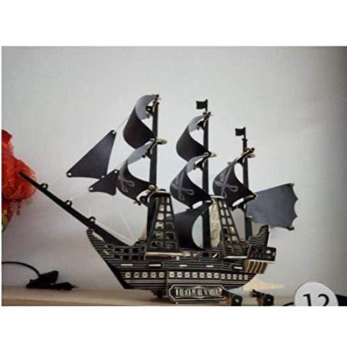 XIUYU Wohnzimmerdekorationen Segelboot Modell Kinder Lern Puzzle Laserschneiden Holzboot Model Kit DIY Model Kit