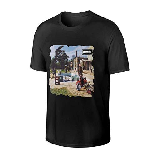 Cat-Tshirt Oasis Band Stand by Me Custom Tee Maglietta Casual da Uomo