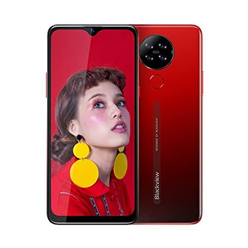 Blackview A80 Smartphone ohne Vertrag 4G, Android 10 Go 15,7 cm (6,2 Zoll) HD+ Display, 13MP-Quad-Kamera, 4200mAh Batterie 2GB/16GB, 128 GB erweiterbar, Dual Nano-SIM Handy - Rot