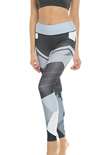 FITTOO Leggins Sportivi Donna 3D Stampa Pantaloni Push Up Pants Collant Elastico Cuore per Fitness Gym Yoga