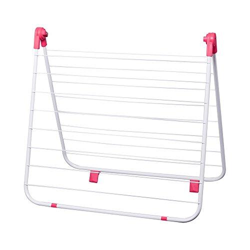 Je Cherche une idee ME2282 droogrek voor badkuip, metaal, roze/blauw, 65,5 x 4,5 x 64 cm, willekeurige kleurkeuze