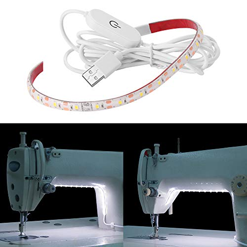 XIANNVV Cinta de luz para máquina de coser, 5 V, USB, 18 ledes, 30 cm, 6500 K, blanco frío