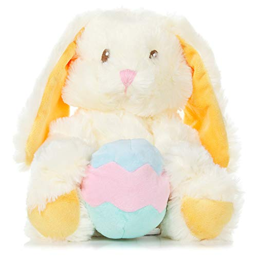 Warm Pals Microwavable Lavender Scented Plush Toy Stuffed Animal - Bunny (Bashful Bunny with Egg Handwarmer)