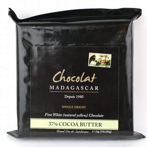 ショコラマダガスカル クーベルチュール チョコレート (ホワイト37%, 1KG)