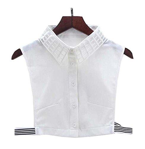 Black Temptation Fälschungs-Kragen-abnehmbare Kragen-Blusen-halbe Hemd-Kragen-falscher Kragen für Frauen, B