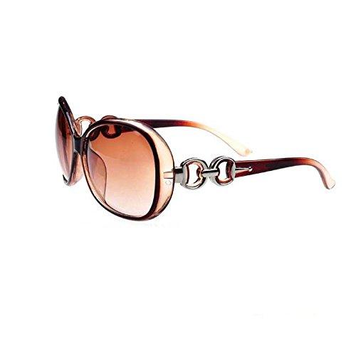 Gafas de sol marrones retro vintage de gran tamaño para mujer