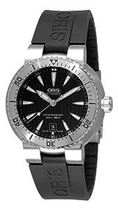 Oris Men's 73375334154RS TT1 Diver Black Rubber Strap Watch image