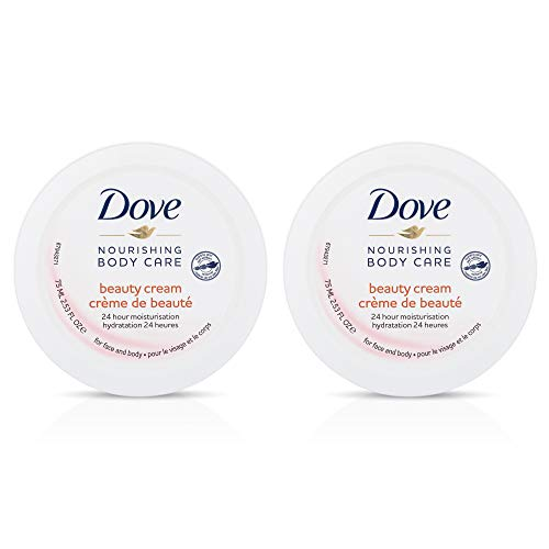 Dove Nourishing Body Care Beauty Cream with 24 Hour Moisturization, 2.53 FL OZ (Pack of 2)