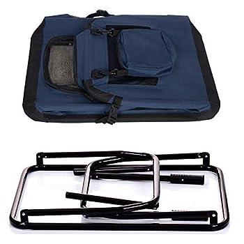 EUGAD 0314HT Cage de Transport en Oxford Sac de Transport Pliable pour Chien ou Chat,Bleu Classique 60x42x42cm