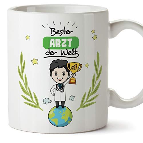 Mugffins Arzt Tasse/Becher/Mug Geschenk Schöne and lustige kaffetasse - Bester Arzt der Welt - Keramik 350 ml