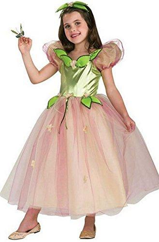 Forever Young Elfen-Kostüm, elegantes Kleid für Mädchen, Nimmerland, Weltbuchtag Gr. 3-4 Jahre, grün