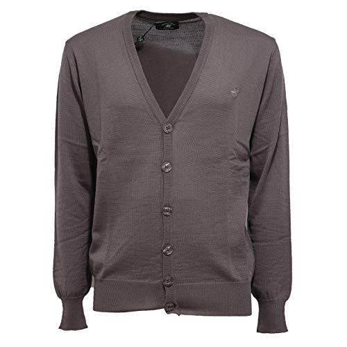 Beverly Hills Polo Club 6428K Cardigan Uomo Grey Mix Wool Sweater Man [L]