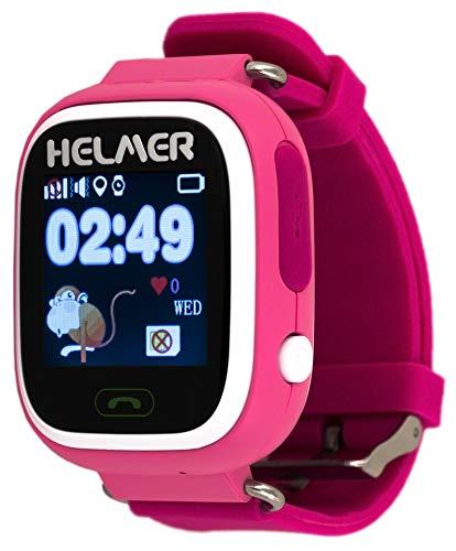 HELMER lk703Niños Smartwatch con GPS Rastreador y función de Llamada Rosa