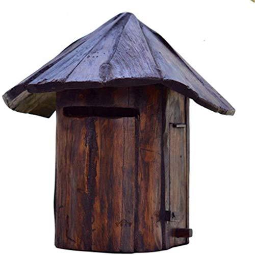 LFERRTYZ Caixa de cartas, montagem na parede, clássica, caixa de correio de madeira moderna, vertical, suporte de parede, caixas de correio criativas, caixas de correio para segurança ao ar livre
