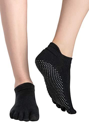 Soggz Yoga Socken / Rutschfeste Socken für Sport: Klassische Zehentrenner