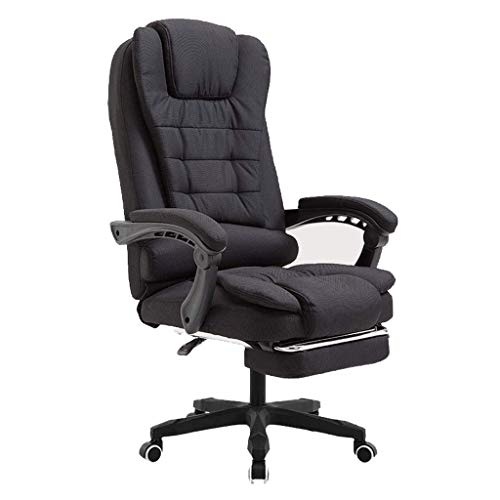 Boss Chair/Administrative Chair/Office Chair, Ergonomics,Can Massage, Fabric Material, Thicken Soft Cushion, Telescopic Footrest, Rotation Function