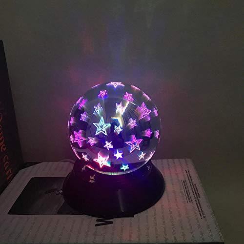 Nachtlichter Schlummerleuchten Innenbeleuchtung Leuchten für Kinder Art und Weise LED 3D magisches Licht USB, das LED auflädt Buntes magisches Licht 3D Hauptpartei-Dekoration Projektionslichter-D_M