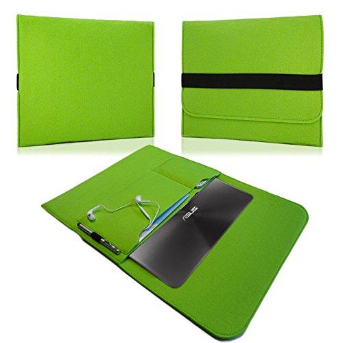 NAUC Für Lenovo E31-70 Tasche Hülle Filz Sleeve Schutzhülle Hülle Cover Bag, Farben:Grün