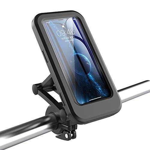 Eamplest Soporte Movil Bicicleta, Bolsa Bicicleta Manillar Impermeables con 360° Rotación, Soporte Universal Manillar Motocicleta para 3.5'-6.7' Smartphones