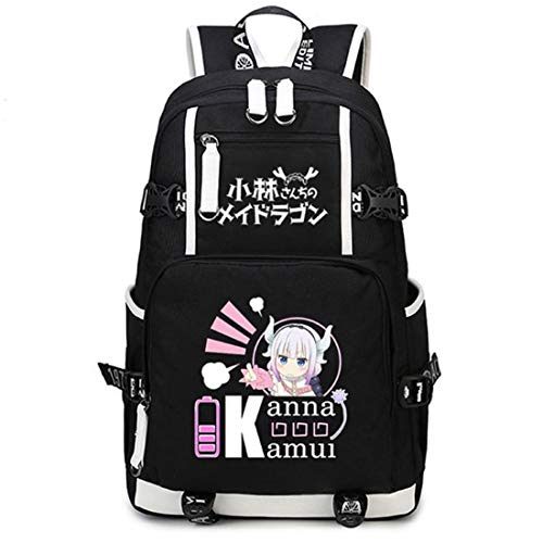 YOYOSHome Anime Miss Kobayashi's Dragon Maid Cosplay College Bag Bookbag 16'' Laptop Bag Daypack Rucksack Backpack School Bag (4)