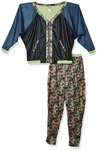 Smiffys 43198 80er Jahre Hip Hop Kostüm, Gemustert, mit Jacke, Hose & Kopfbedeckung, M