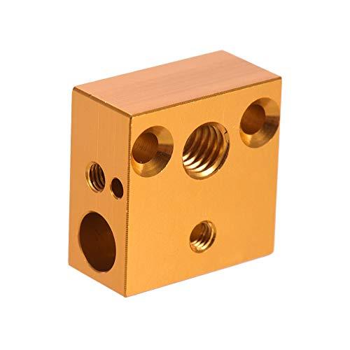 Aibecy creality 3d Calentador impresora Block 20 * 20 * 10 mm para creality ender3 Extrusor de impresora 3d Nozzle kit hotend