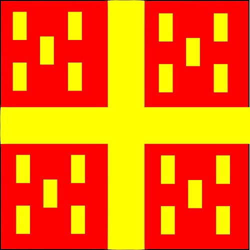 magFlags Flagge: Large Rocourt-Drapeau | Commune de Rolle CH | Fahne 1.35m² | 120x120cm » Fahne 100% Made in Germany