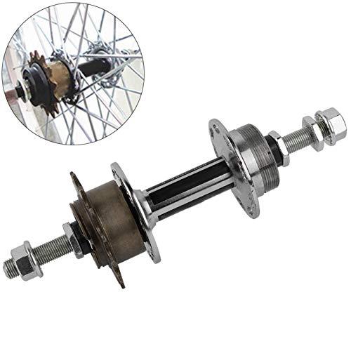 Buje de rueda trasera, buje de rueda trasera universal para bicicleta, 36 agujeros, reemplazo de casete, con diseño de eje con tuerca de extremo de tornillo, juego de buje trasero de disco de metal