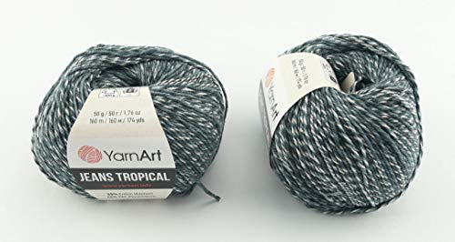 YarnArt Jeans Tropical Garn Baumwollgarn Amigurumi Babygarn Wolle 50g Yarn Art 160m/50g (611)