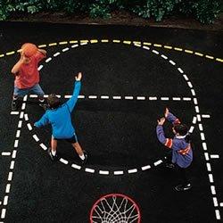 MSBBCSXX Sport Supply Group Ursa Major Basketball Court Stencil Set