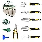 Vinteky Outils de Jardinage 12 PCS Ensemble Outils Jardinage avec Sac de Rangement, Arrosoir, Gants de Jardinage