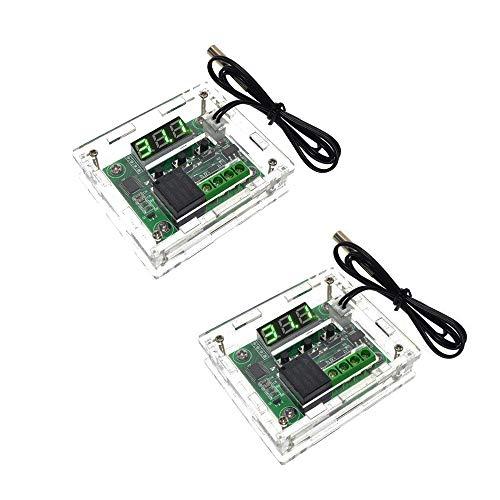 diymore W1209 - Termostato digitale LED per controllo della temperatura, modulo di controllo della temperatura, DC 12 V -50-110 °C, con sonda NTC impermeabile