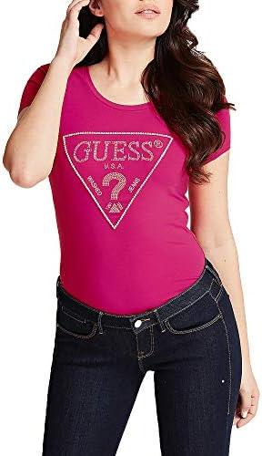 Guess Camiseta Manga Larga Mujer Ajuatada Fucsia