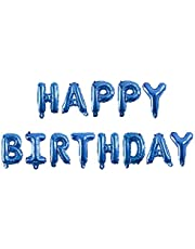 Happy Birthday 13 Letter Balloons Blue Large