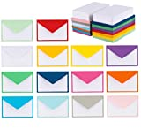 140 Mini Envelopes with White Blank Note Cards, Mini Envelopes 4'x 2.7' for Business Cards, Gift Cards (Assorted Colors)