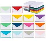 140 Mini Envelopes With White Blank Note Cards, Mini Envelopes 4'x...