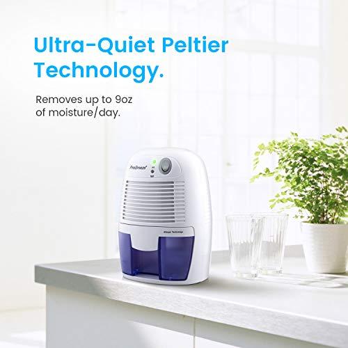 Pro Breeze Electric Dehumidifier 1200 Cubic Feet (215 sq ft) - Portable Mini Dehumidifier with Auto Shut Off for Home, Bedroom, Basement, Trailer, RV