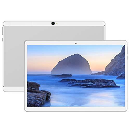 Android Tablet 10 Zoll Tablet Android Tablet 10 Zoll Tablet PC SIM-Karte Tablet 64 GB Android Tablet 10 Zoll Android 9.0 Unlocked Tablet PC,UV4(Silber)