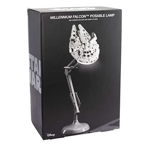 Paladone Lámpara de escritorio Halcon milenario, Star Wars, Gris